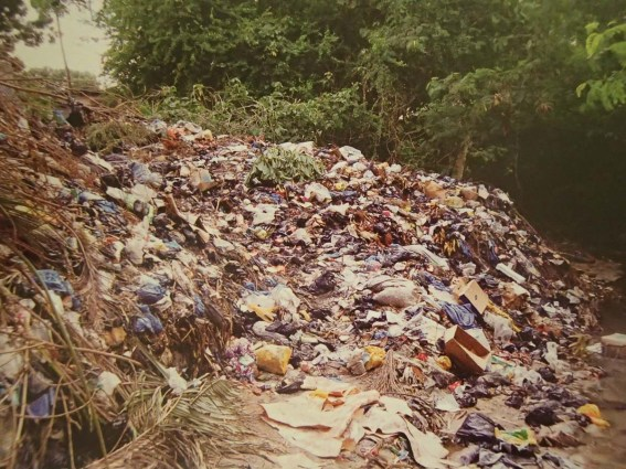 Watercourses can appear particularly trash nasty, because they present an inviting, linearly open space for dumping. And even though toilets may swirl backwards here in the southern hemisphere, water still flows downhill, so streams get tons of rubbish washed into them from upstream rains.